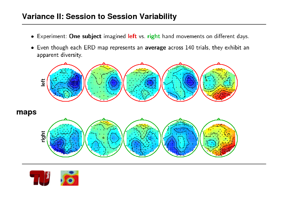 Slide: Variance II: Session to Session Variability  maps