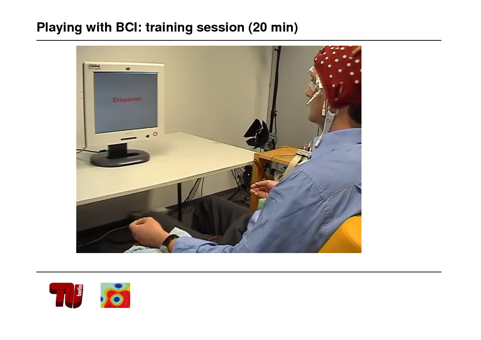 Slide: Playing with BCI: training session (20 min)