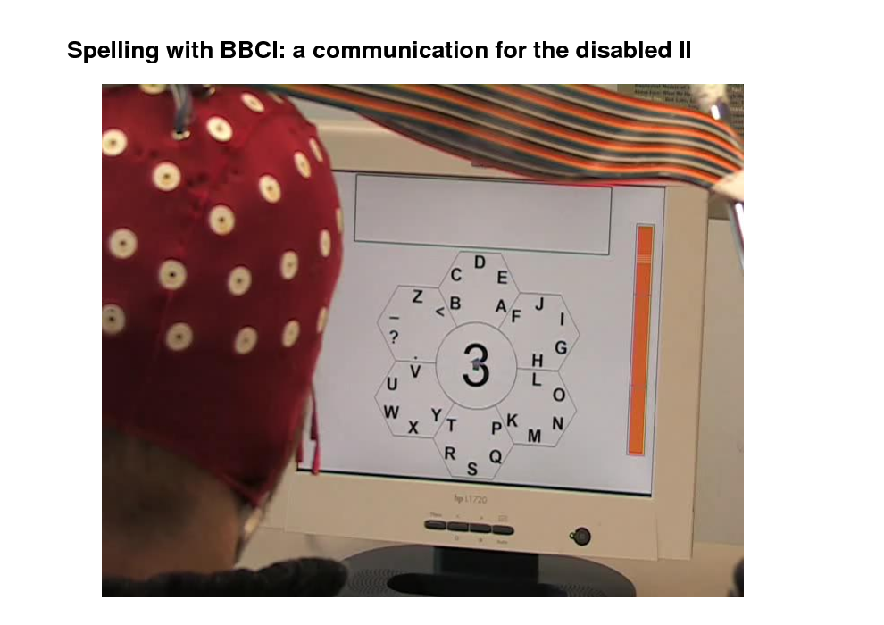 Slide: Spelling with BBCI: a communication for the disabled II