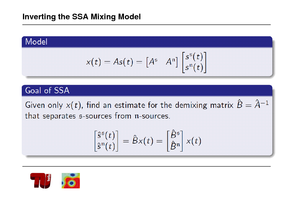 Slide: Inverting the SSA Mixing Model