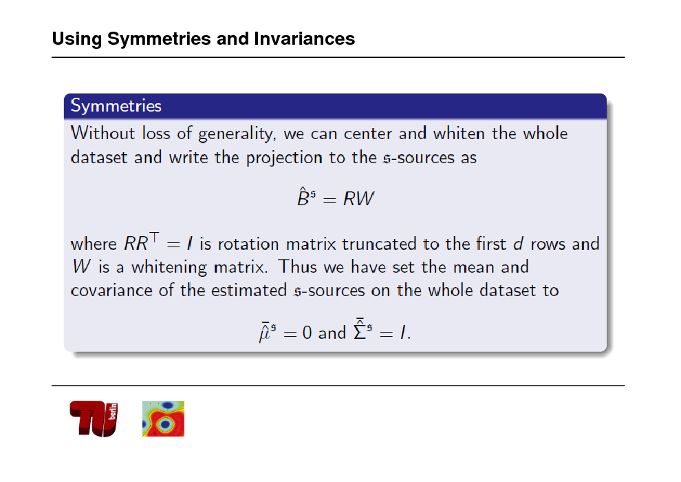 Slide: Using Symmetries and Invariances