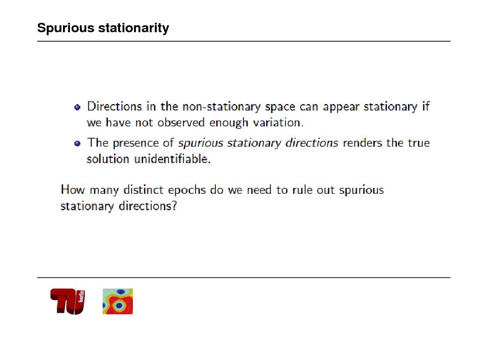 Slide: Spurious stationarity