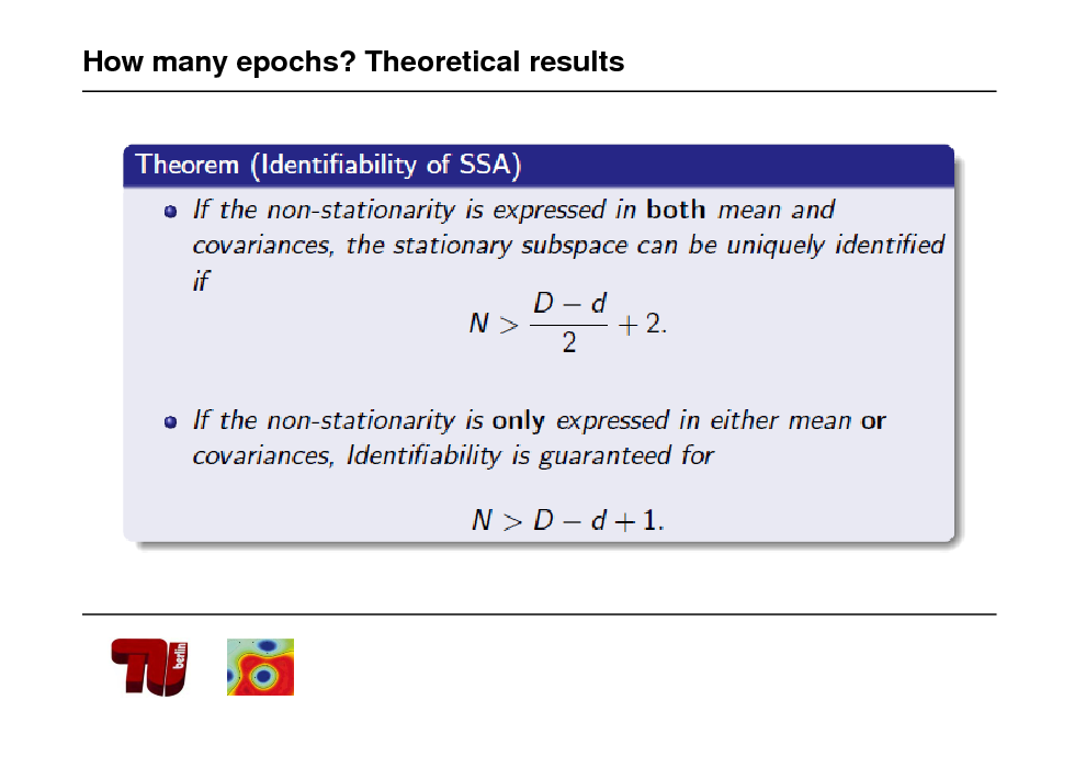 Slide: How many epochs? Theoretical results