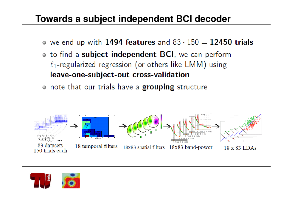 Slide: Towards a subject independent BCI decoder