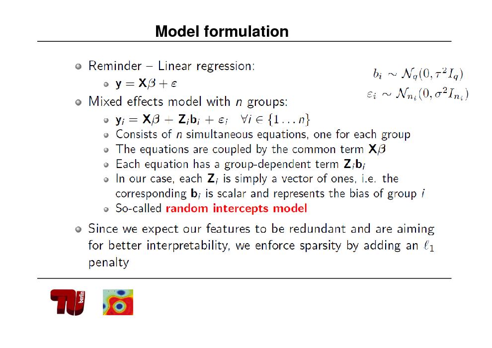 Slide: Model formulation