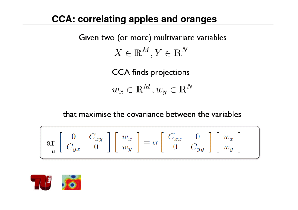 Slide: CCA: correlating apples and oranges
