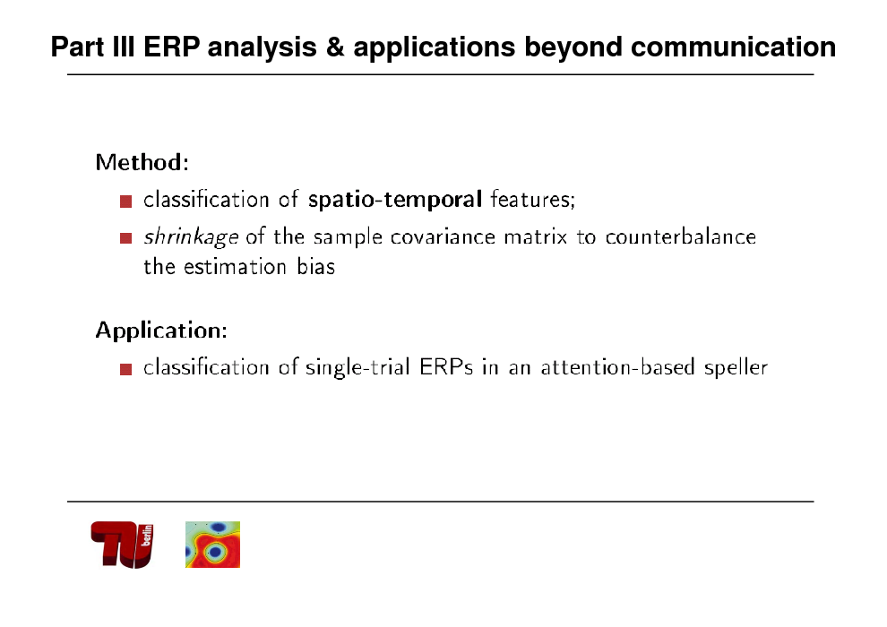 Slide: Part III ERP analysis & applications beyond communication