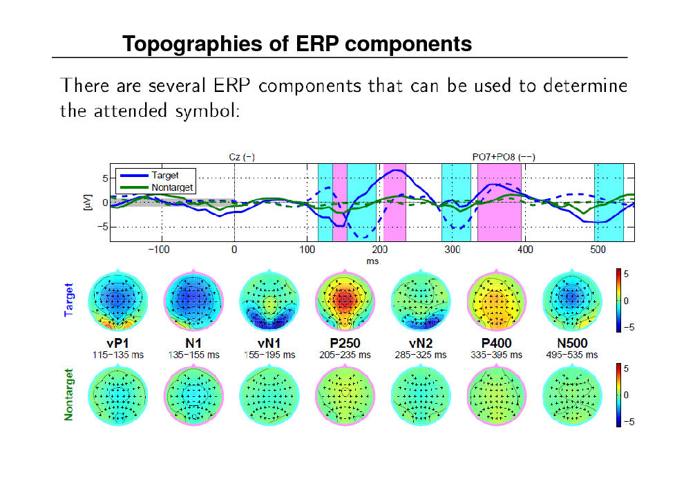 Slide: Topographies of ERP components
