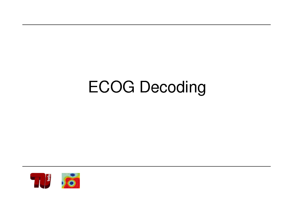 Slide: ECOG Decoding