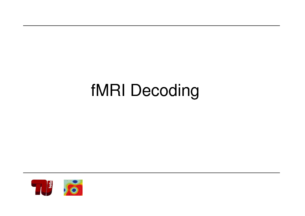Slide: fMRI Decoding