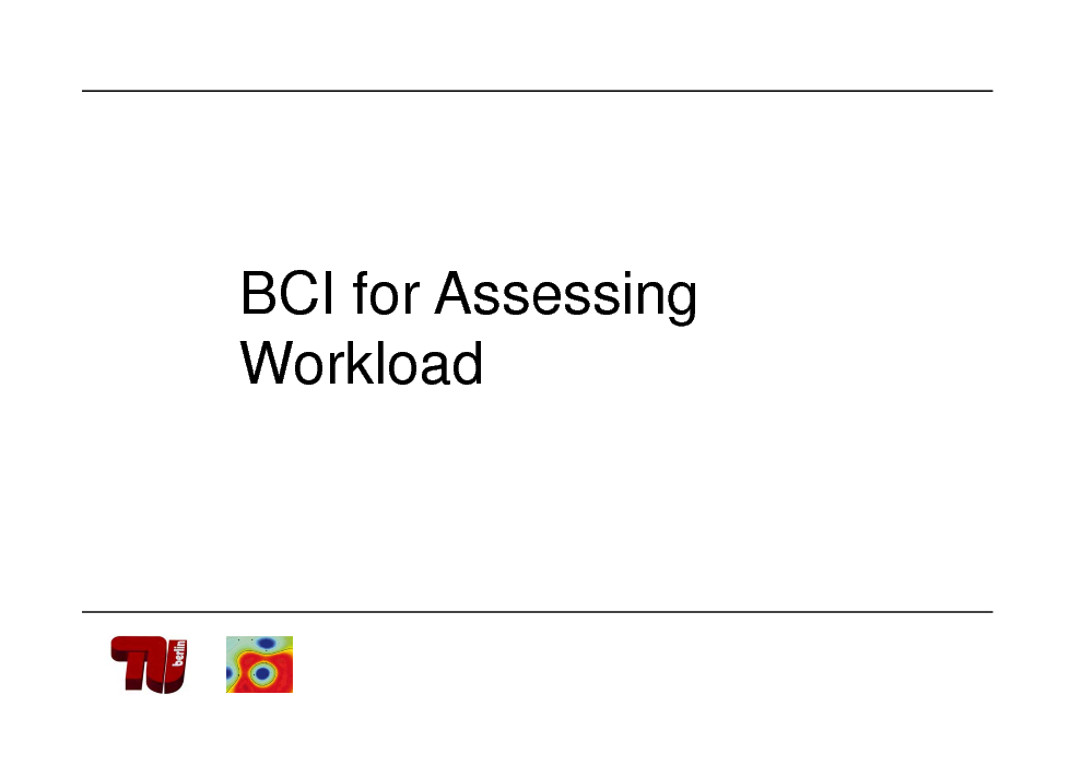 Slide: BCI for Assessing Workload