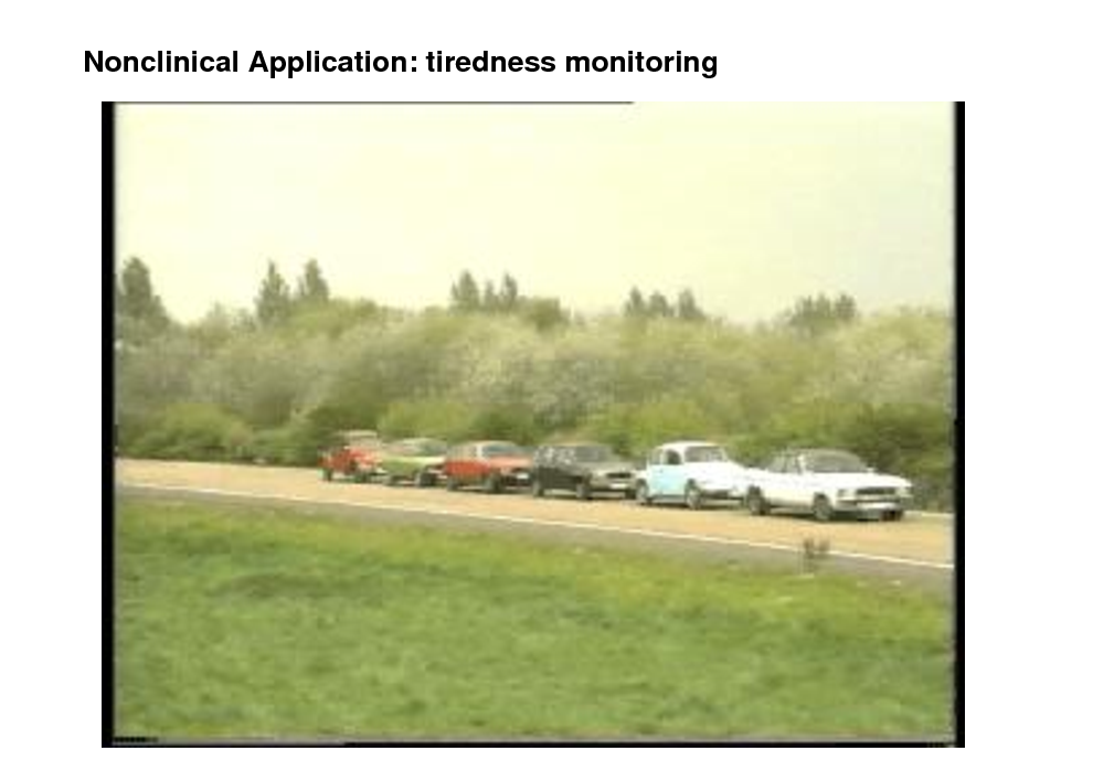 Slide: Nonclinical Application: tiredness monitoring  [Kohlmorgen, Mller et al 2007]