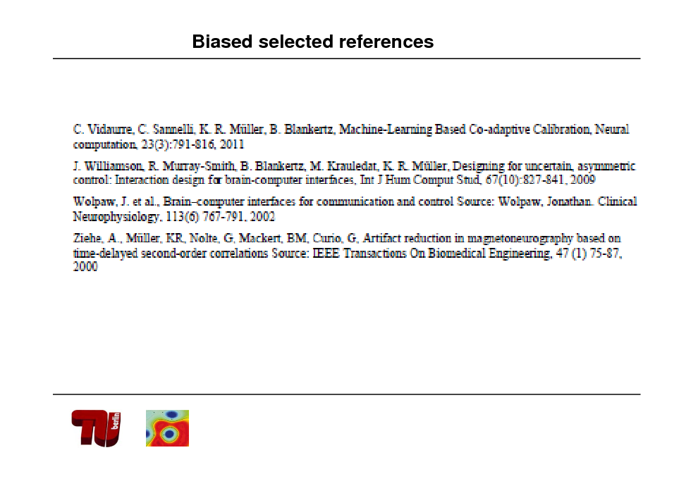 Slide: Biased selected references