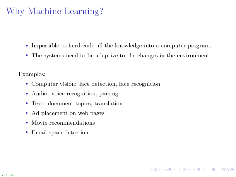 Slide: Why Machine Learning?