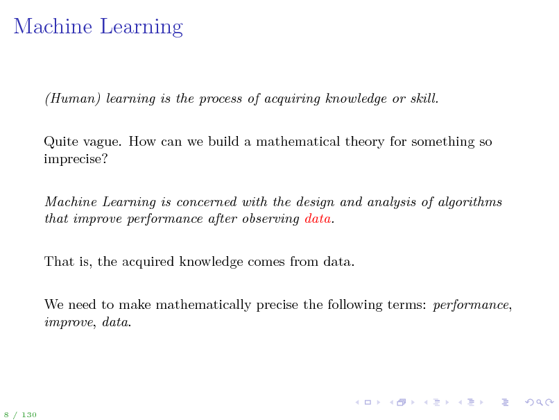 Slide: Machine Learning