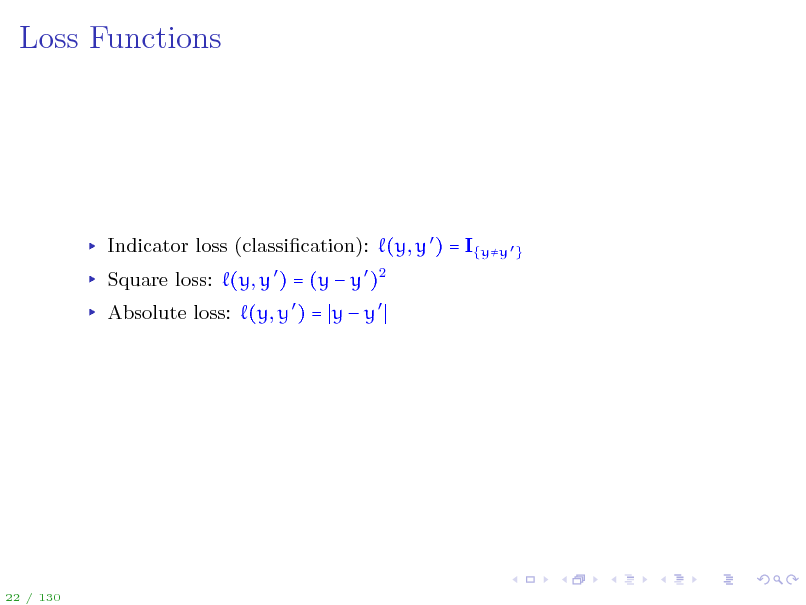 Slide: Loss Functions