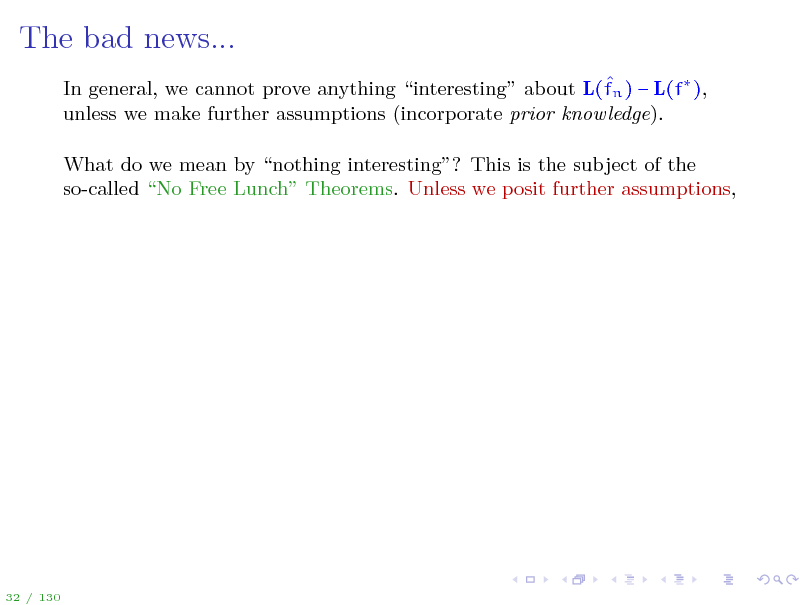 Slide: The bad news...