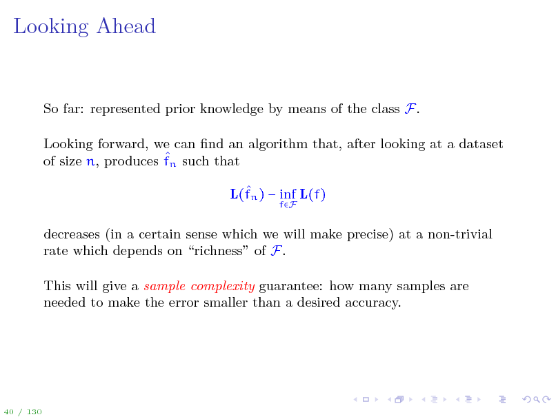 Slide: Looking Ahead