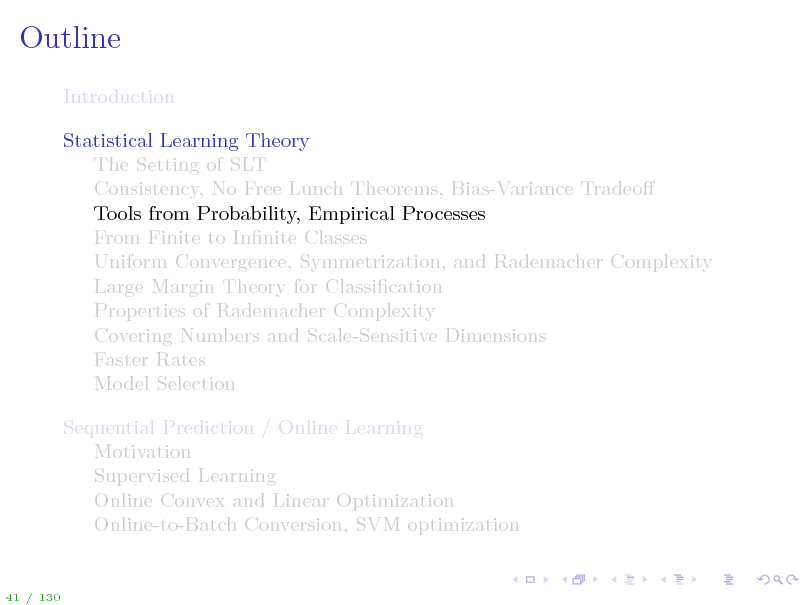 Slide: Outline