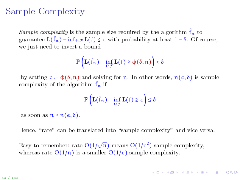 Slide: Sample Complexity