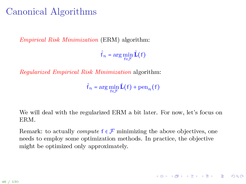 Slide: Canonical Algorithms