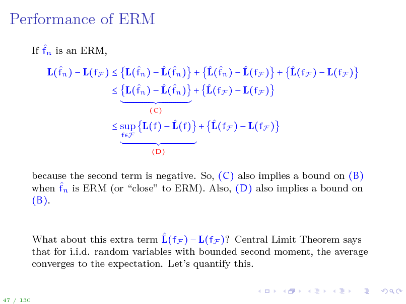Slide: Performance of ERM