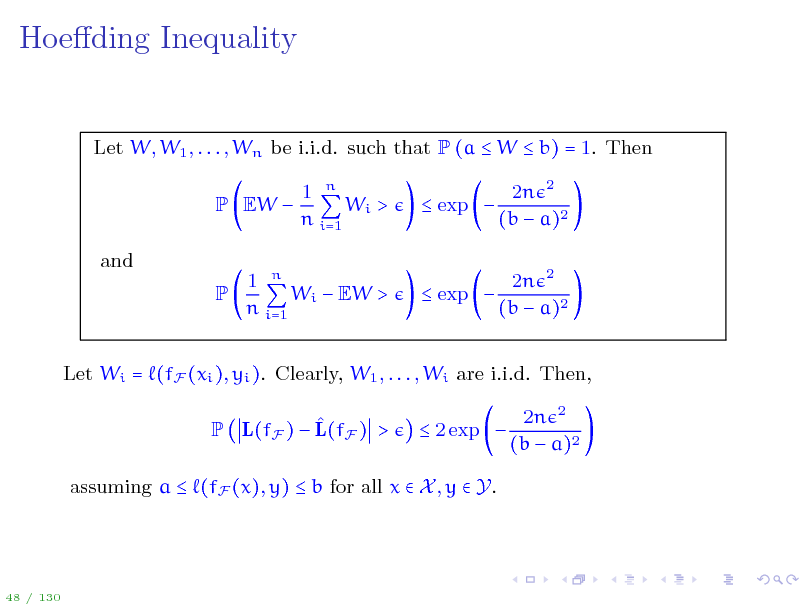 Slide: Hoeding Inequality