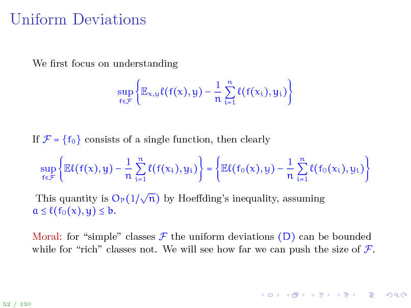 Slide: Uniform Deviations