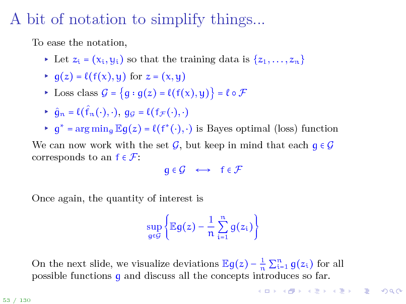 Slide: A bit of notation to simplify things...