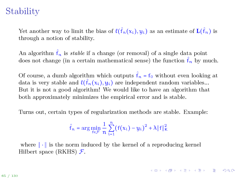 Slide: Stability