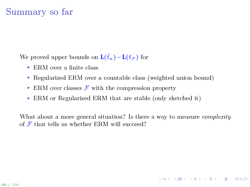 Slide: Summary so far
