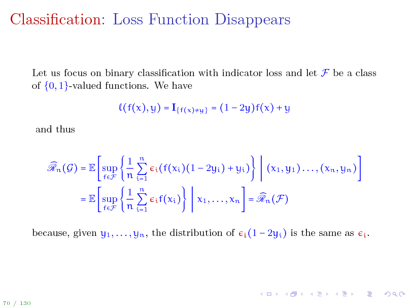 Slide: Classication: Loss Function Disappears