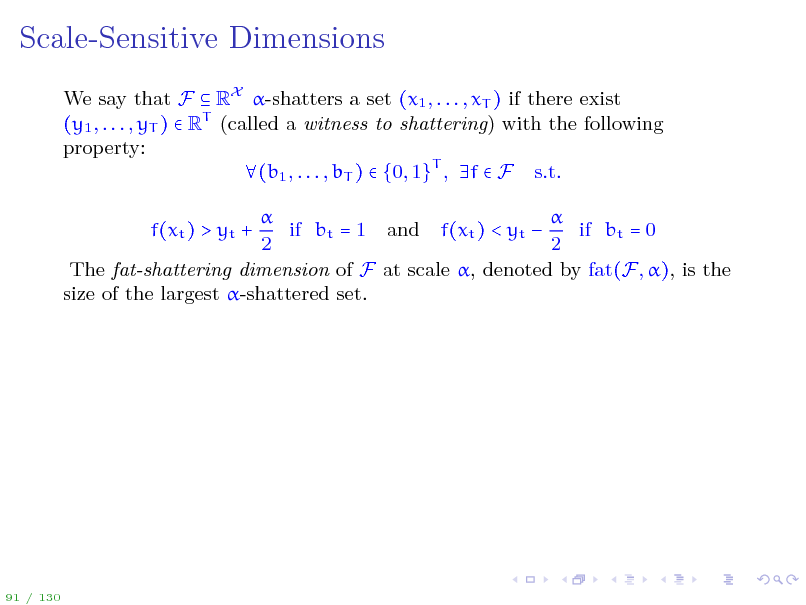 Slide: Scale-Sensitive Dimensions
