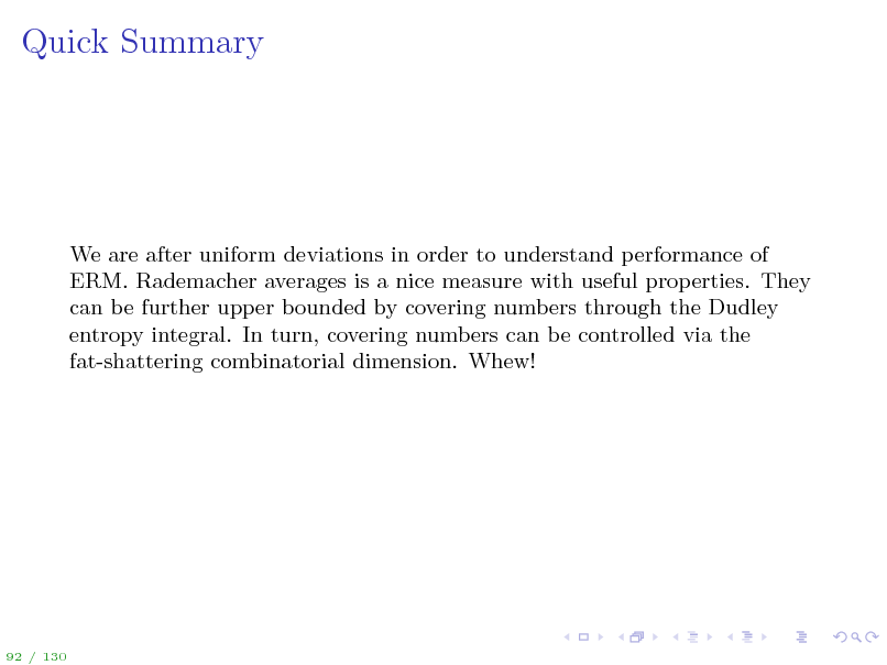 Slide: Quick Summary