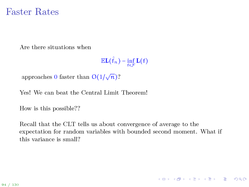 Slide: Faster Rates