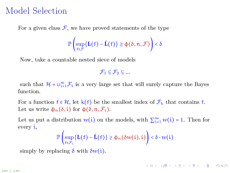 Slide: Model Selection