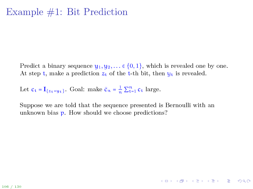 Slide: Example #1: Bit Prediction