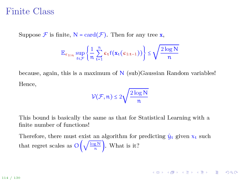 Slide: Finite Class