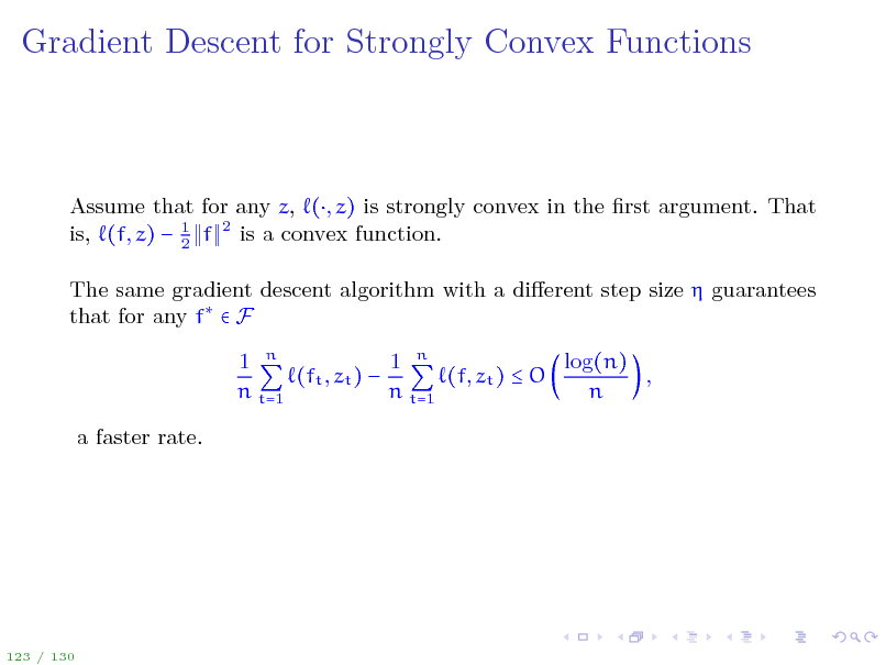 Slide: Gradient Descent for Strongly Convex Functions