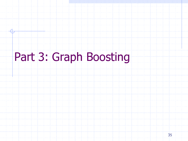 Slide: Part 3: Graph Boosting  35