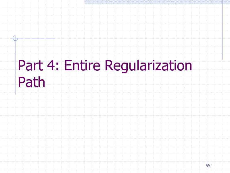 Slide: Part 4: Entire Regularization Path  55