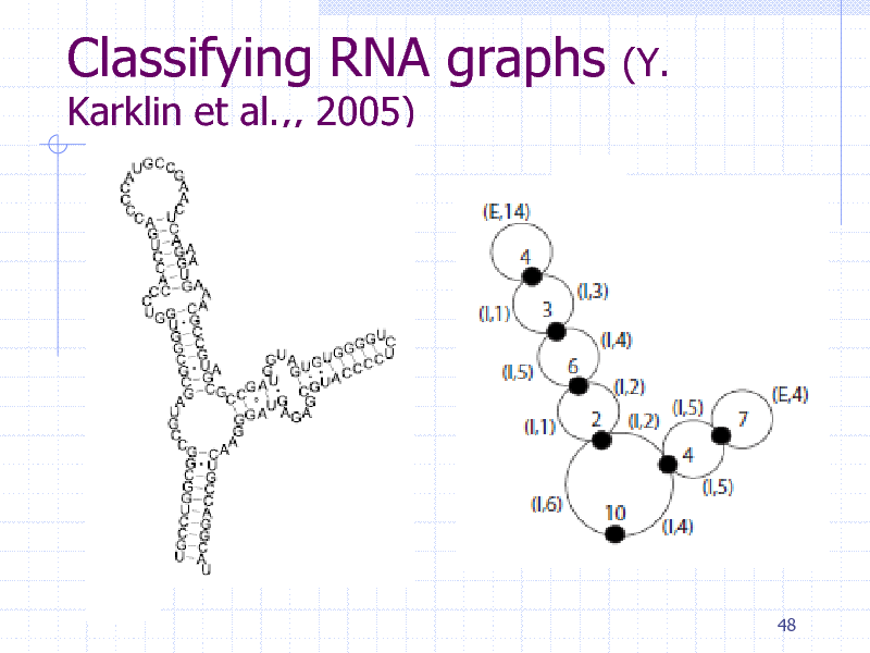 Slide: Classifying RNA graphs Karklin et al.,, 2005)  (Y.  48