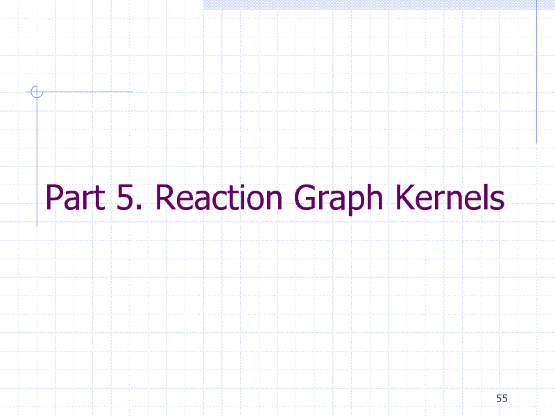 Slide: Part 5. Reaction Graph Kernels  55